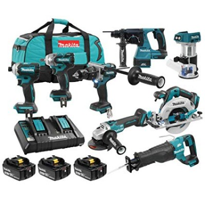 DLX8025PT | 18V LXT 8 Tool Combo Kit Makita Brushless